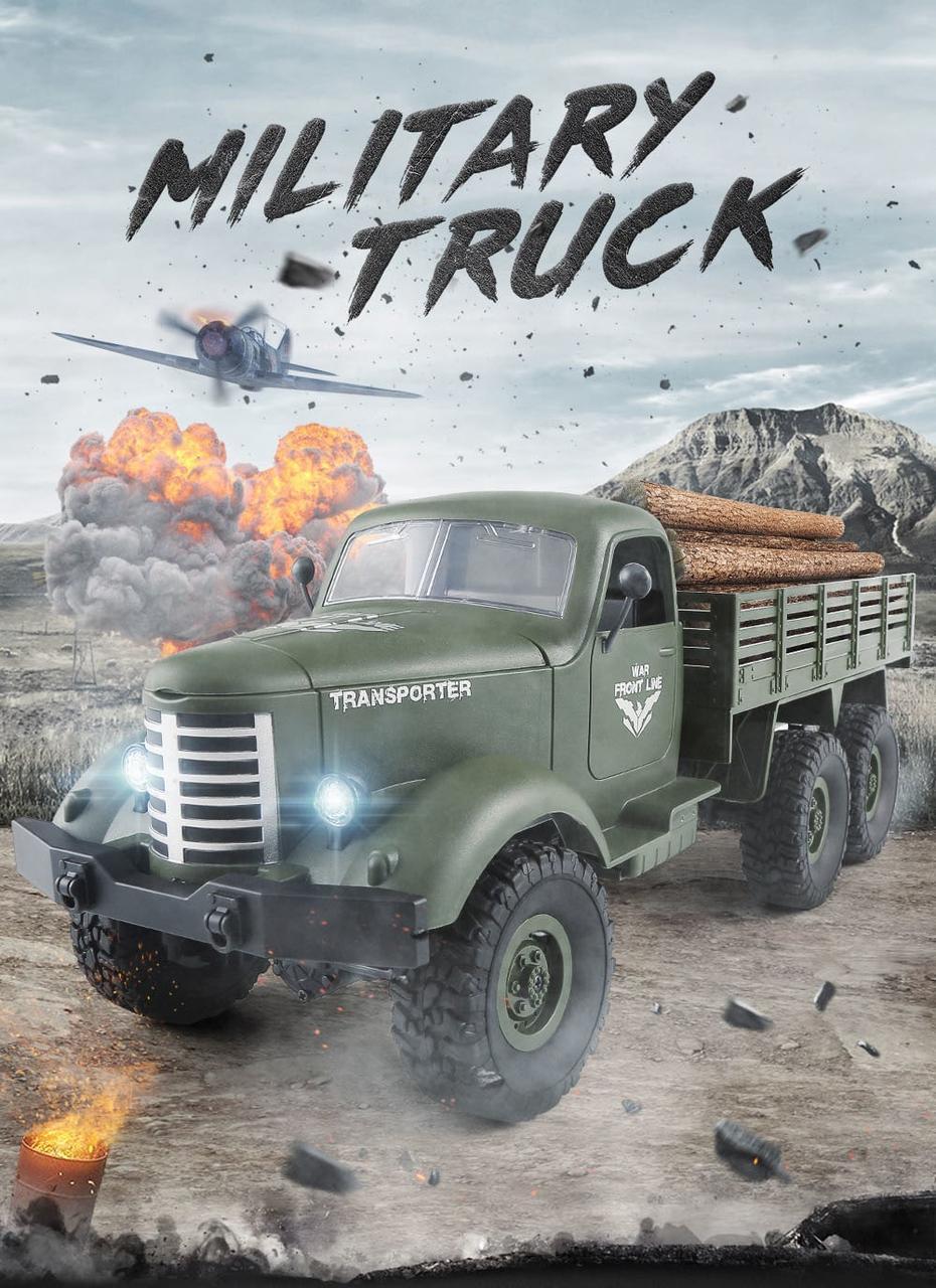 Автомобиль военный грузовик на радиоуправлении JJRC Q60 6WD RC1:16