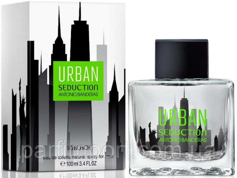 Antonio Banderas Seduction in Black Urban EDT 100 ml  туалетная вода мужская (оригинал подлинник  Испания)