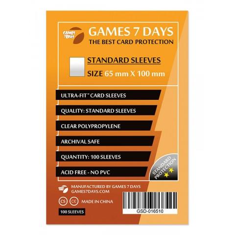Протекторы для карт Games 7 Days 100 шт. (65x100 мм) Standard Quality