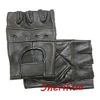 Перчатки  кожаные короткопалые  MIL-TEC Black 12517002