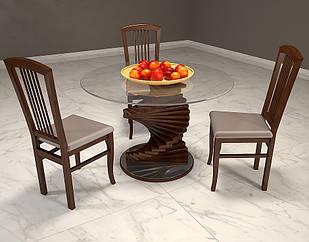 Журнальний кофейний столик зі скла у вітальню Шедевр Арбор Древ Стандартний, Сосна