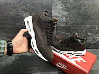 Мужские зимние кроссовки Nike 6973 коричневые, фото 1