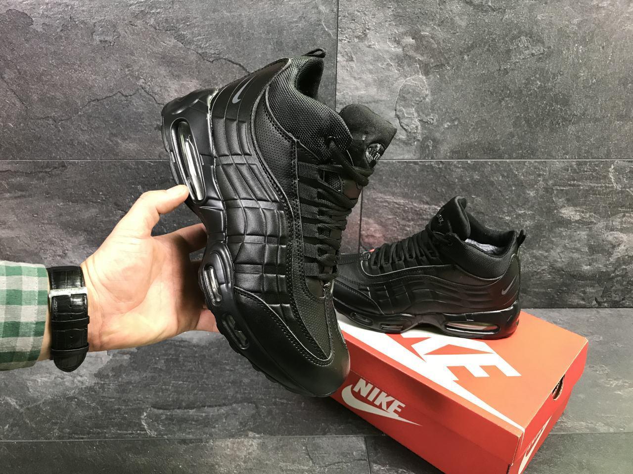 770666c6 Мужские зимние кроссовки Nike 6974 черные купить недорого. Большой ...