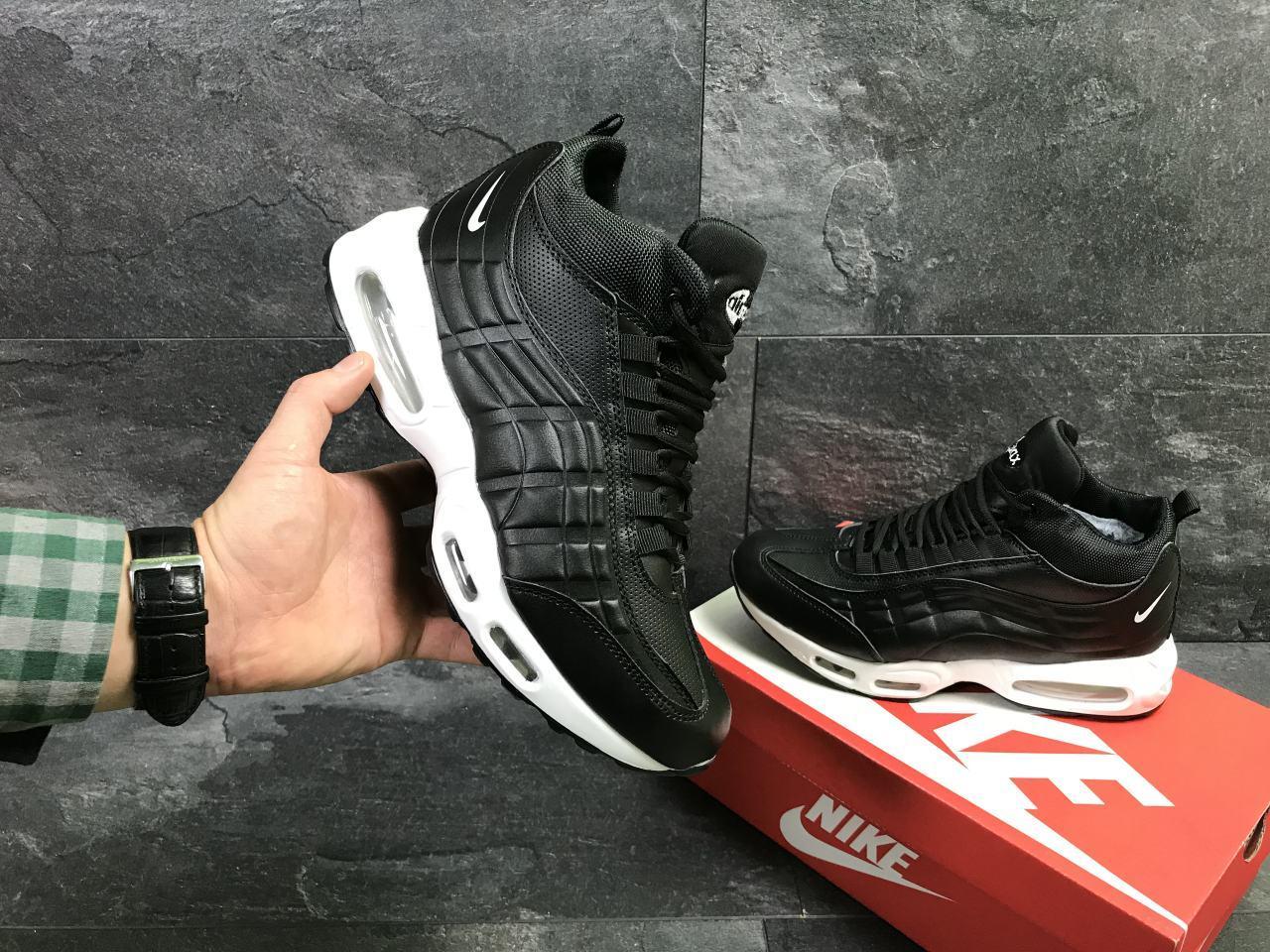 f52e67ae Мужские зимние кроссовки Nike 6975 черные с белым купить недорого ...