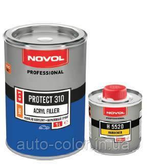 Грунт акриловий 4+1 PROTECT 310 Novol 1л + отвер.0,25 л, чорний