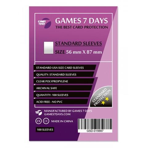 Протекторы для карт Games 7 Days 100 шт. (56x87 мм) Standard Quality