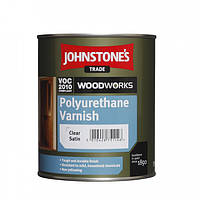 Лак для панелей Johnstones Polyurethane Varnish Clear Satin (півматовий) 0,75 л