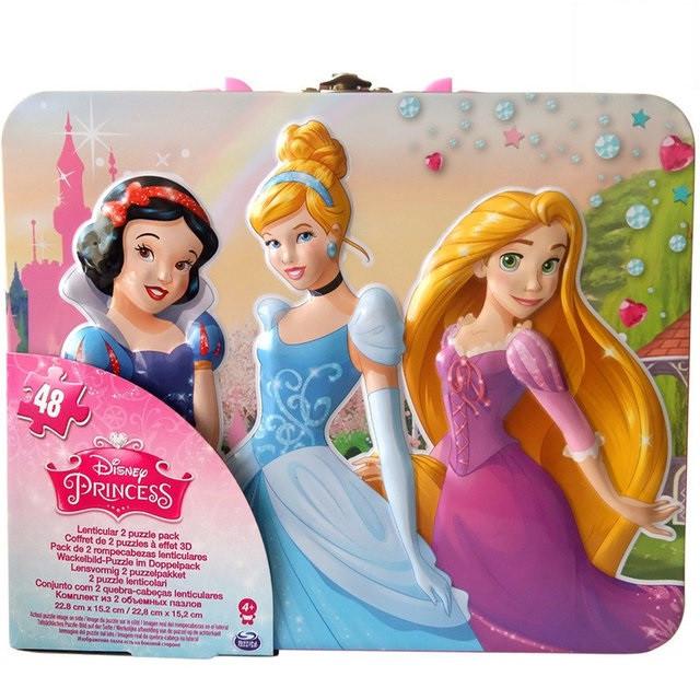 Пазл переливной 2 в 1 «Принцессы» (15см*23 см; в жестяной коробке) SM98424/6033097 Spin Master