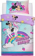 Детское постельное белье Минни Маус полуторный комплект для девочки