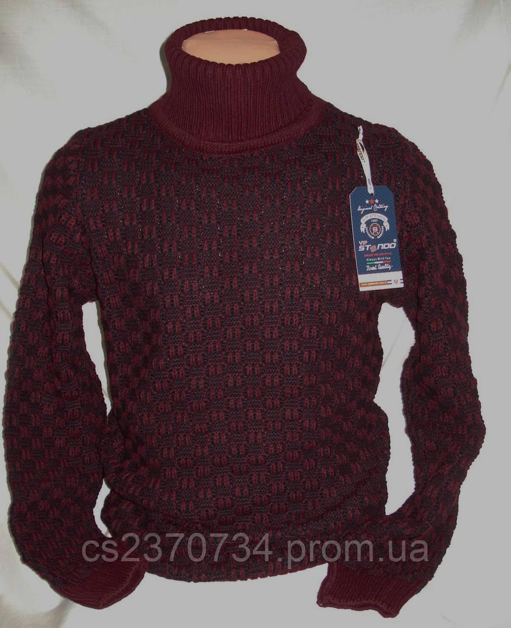 Свитер-хомут Vip Stendo мужской  бордо меланж    M, L,XL