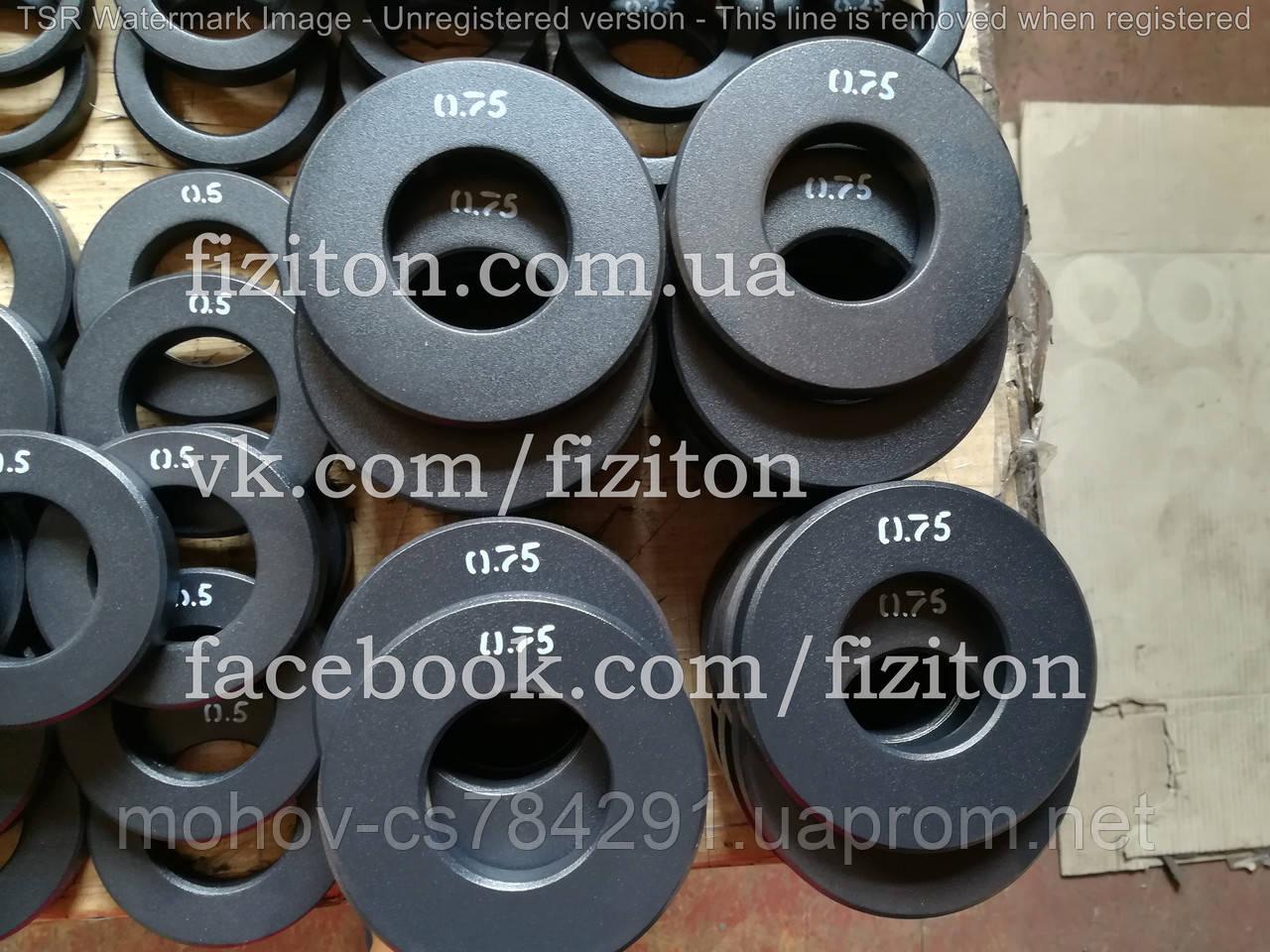 Блин (диск) стальной 0,75 кг + покраска