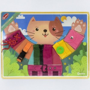 Деревянный бизиборд Кошечка Fun Toys М 03001