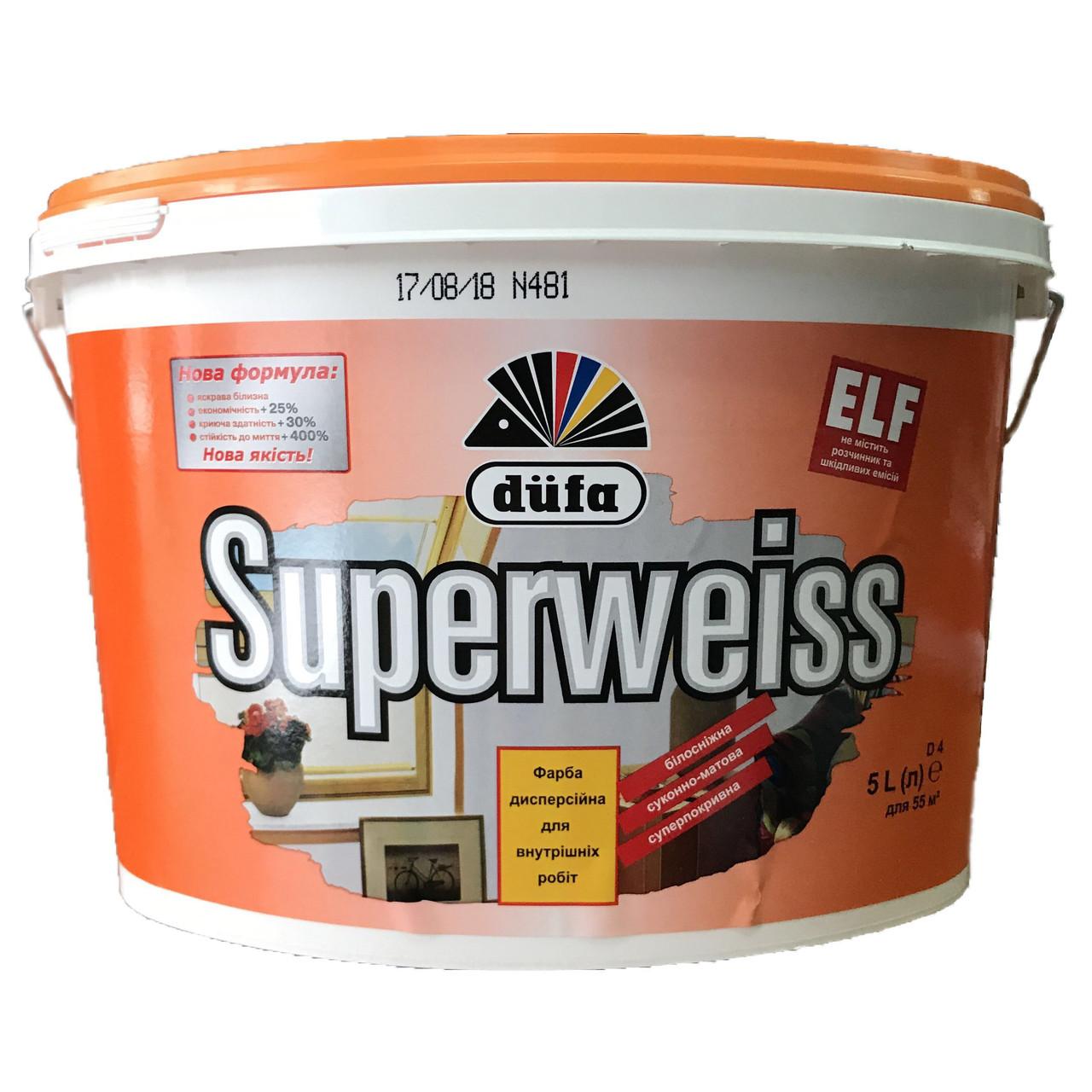 Фарба суперпокривна Dufa Superweiss 5л