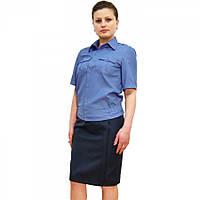 Рубашка МВД форменная короткий рукав в брюки женская
