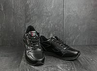 Мужские кроссовки искусственная кожа весна/осень черные Classica G 9168 -3, фото 1