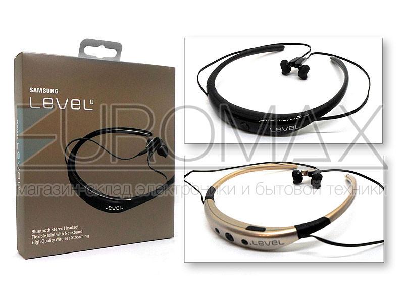 Наушники вакуумные с микрофоном BT магнитные с дужкой LEVEL-001