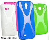 New Line X-series Case Samsung Galaxy S5 Active Blue чехол накладка силиконовая