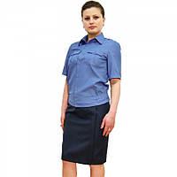 Рубашка МВД форменная короткий рукав пояс резинка женская