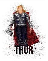 Постер картина супергерои Марвел 40х50 см на холсте - Тор