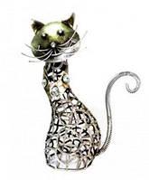 Статуэтка из белого металла Кот