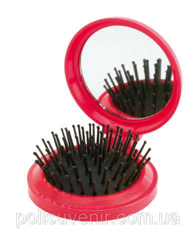 Дзеркало з щіткою для волосся