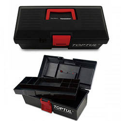 Ящик для инструмента 2 секции (пластик) 380x178x143 мм. TOPTUL