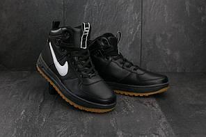 Мужские кроссовки искусственная кожа весна/осень черные Classica G 5055 -2