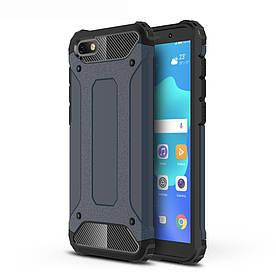 Чехол накладка для Huawei Honor 7A Dua-L22 противоударный, Spider, темно-синий