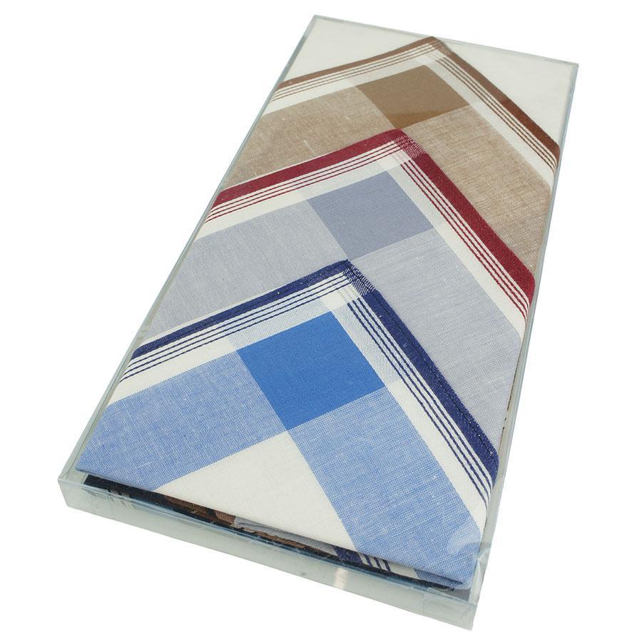 Набір чоловічих носових хусток в різних кольорах 6 шт. СН-192/6 С