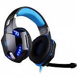 Ігрові навушники Kotion Each G2000 з мікрофоном та підсвіткою Blue, фото 3