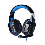 Ігрові навушники Kotion Each G2000 з мікрофоном та підсвіткою Blue, фото 4