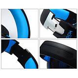 Ігрові навушники Kotion Each G2000 з мікрофоном та підсвіткою Blue, фото 6
