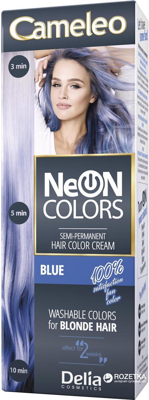 CAMELEO NEON COLORS - фарба для волосся Delia - блакитний/blue - 60 мл