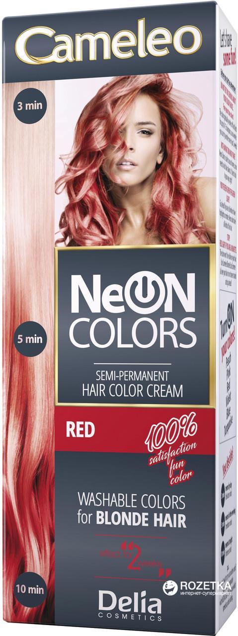 CAMELEO NEON COLORS - краска для волос Delia - красный/red - 60 мл