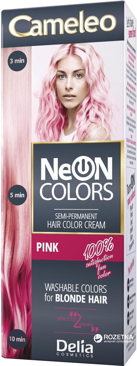 CAMELEO NEON COLORS - краска для волос Delia - персик/peach - 60 мл