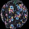 Детская демисезонная куртка для девочек  3-7 лет Черная в цветах