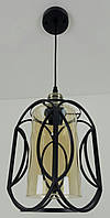 """Люстра потолочная подвесная в стиле """"LOFT"""" (лофт) (35х15х20 см.) Матовый черный YR-12055/1"""