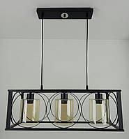 """Люстра потолочная подвесная в стиле """"LOFT"""" (лофт) (30х24х63 см.) Матовый черный YR-11825/3"""