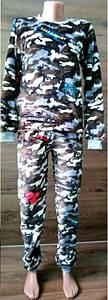 Теплая камуфляжная пижама для мужчин цвета хаки 42-56 р, мужские теплые пижамы оптом от производителя