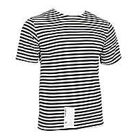 Тельняшка-футболка вязаная (черная, морская пехота) 52