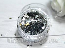 Ромбики для дизайна ногтей 6 - Серебро