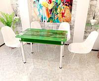 """Столы обеденные стекло """"Роза переплет"""", фото 1"""