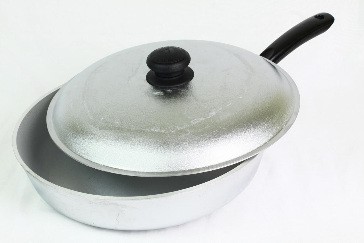 Сковорода 24 см с крышкой, глубокая БC24трк