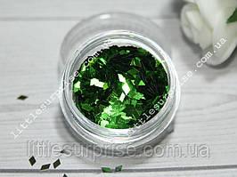 Ромбики для дизайна ногтей 8 - Зеленые
