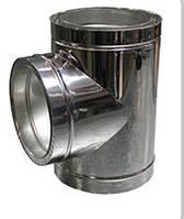 ТРОЙНИК из нержавеющей стали AISI 304 с термоизоляцией в нержавеющем кожухе  90°; 0,8 мм