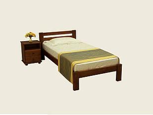 Ліжко односпальне з натурального дерева в спальню/дитячу Л-107
