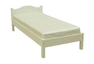Ліжко односпальне з натурального дерева в спальню/дитячу Л-104 (лк-124)