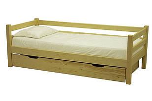 Ліжко односпальне з натурального дерева в спальню/дитячу Л-117 (лк-137)