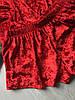 Пижама женская велюровая майка и шорты красная 01, фото 3