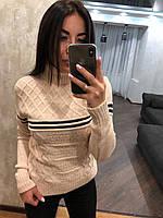 """Вязаный свитер """"Орнамент ПОЛОСА""""(производство Турция)"""